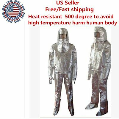 Thermal Radiation 500 Degree Heat Resistant Aluminized Suit Fireproof Clothes Ds