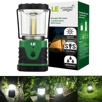 LE Carriable LED Camping Lantern 500lm Light Battery Powered 3 Modes IPX4 Lamp