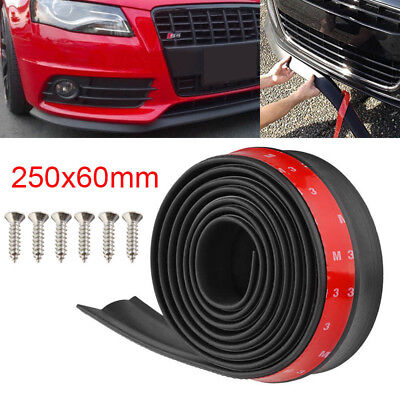 - Car Front Bumper Lip Splitter 2.5M Body Spoiler Chin Skirt Protector Universal