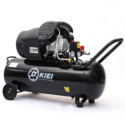 Powerful Air Compressor 100L Litre 3.5HP 14.6CFM Engine Workshop Black Wheeled