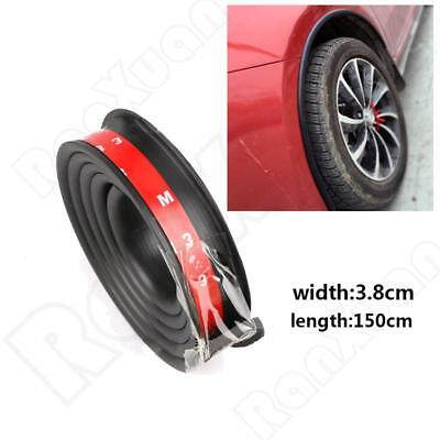 US 1X Black Car Fender Flare Extension Wheel Eyebrow Moulding Trim Protector Lip, used for sale  USA