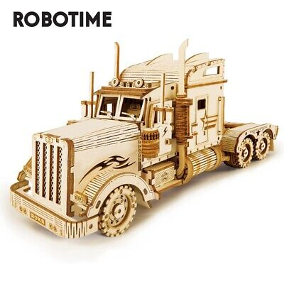 Robotime Truck 3D Puzzle Laser Wooden Model Kits 286pcs Toy Gift for Teens Kids