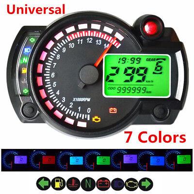 12V ATV Motorcycle LCD Digital Dual Colors Speedometer Tachometer Odometer Gauge