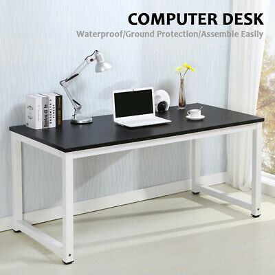 Black Computer Home Office - Wood Computer Desk PC Laptop Table Workstation Study Home Office Furniture Black