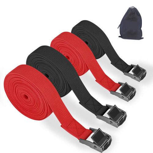 Ratchet Tie Down Straps Heavy Duty Tensioning Belts Adjustab