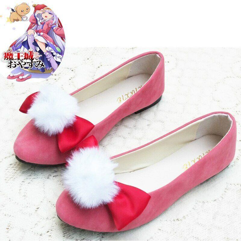 Maoujou de Oyasumi Sleepy Princess in the Demon Castle Syalis shoes pink cosplay