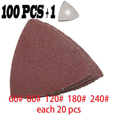 New101pcsset Sanding Sandpaper For Bosch Fein Oscillating Multi Tool Kit Hot