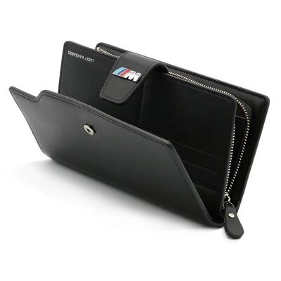 BMW Leather Mens Wallet Case Cover Card Holder Bag M Sport Power Performance