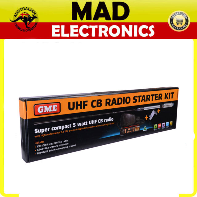 GME TX3100VP VALUE PACK INCLUDING TX3100 80 CHANNEL UHF RADIO AE4018K2 MB407SS