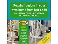 STANNAH, BROOKS, ACORN NEW AND RECONDITIONED STAIRLIFTS FROM £650