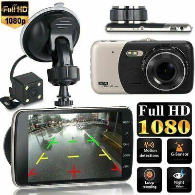 Dual Lens 4'' HD 1080P Vehicle Auto Dashcam Video Kamera Recorder Camera DVR DHL