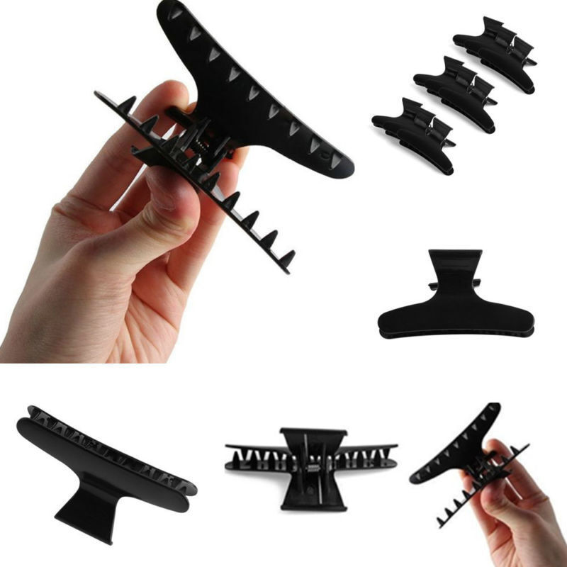 12Pcs Plastic Butterfly Hair Claw Salon Clip Clamps Hairdres