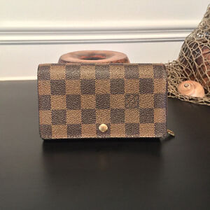 Authentic Louis Vuitton Damier Ebene Tresor Wallet