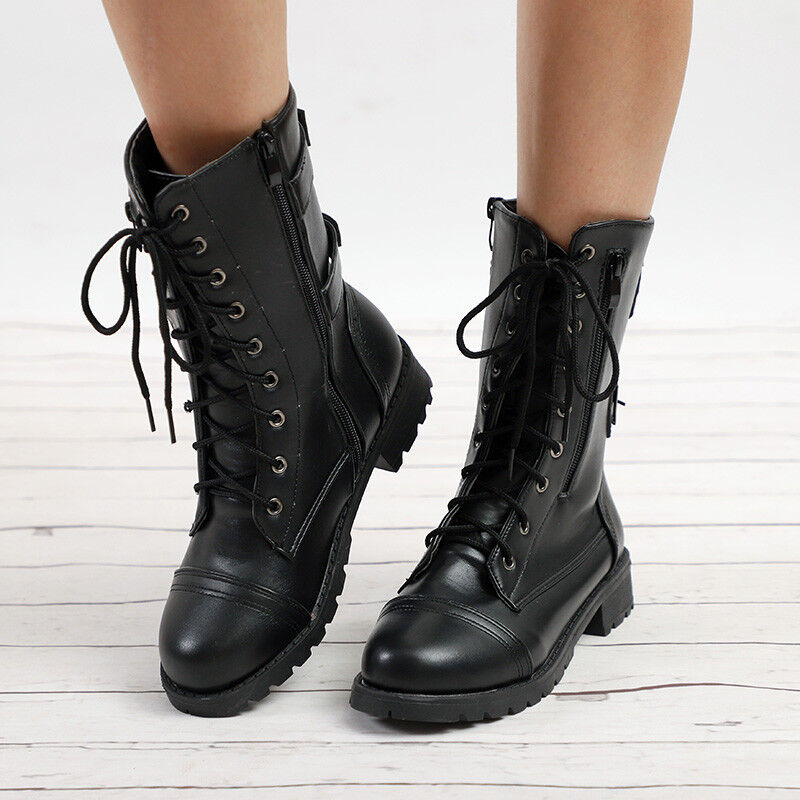 Womens Ankle Boots Buckle Casual