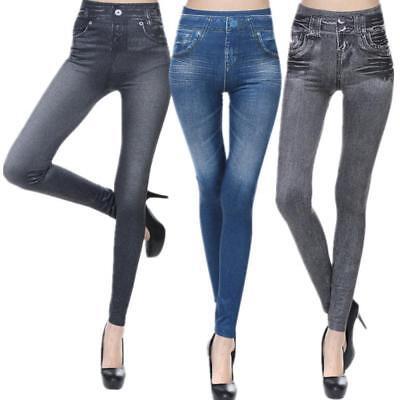 Woman Plus Size Stretchy Soft Curvy Denim Look Jegging 1X 2X 3X Skinny Legging