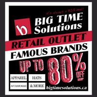 Big Time Solutions Retail & Media Warehouse Event Sale