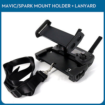 "4-12"" Tablet Phone Mount Bracket & Lanyard For DJI Spark Mavic 2 Pro Air Remote"
