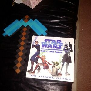 mindcraft toy and Star Wars book