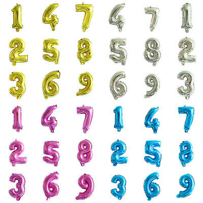 7inch Giant Foil Balloons Number Shape Helium Wedding Birthday Party Christmas](Number Shaped Balloons)