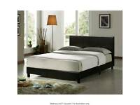 Double bed with double mattress