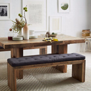 West Elm - Emmerson Dining Table/Bench, Industrial Metal Chairs