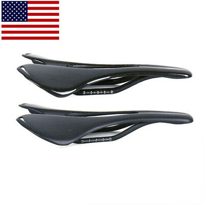 Bicycle Saddle 3K Carbon Fixed Gear MTB Road Racing Bike Seat Ultralight ()