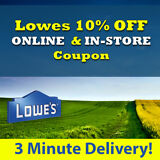 Two(2x) Lowes 10% Off Discount- Lowe's expiry 3/31/18  ra3