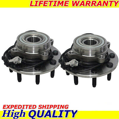 (2) Front Wheel Bearing and Hub for 2000 2001 2002 Dodge Ram 2500 3500 ABS 4x4