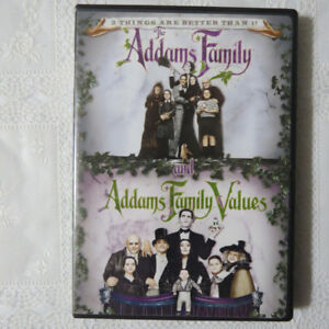 """Addams Family & Addams Family Values""  on DVD"