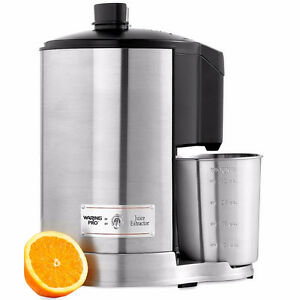 Waring Pro JUICE EXTRACTOR Brushed Stainless Steel 400 Watts