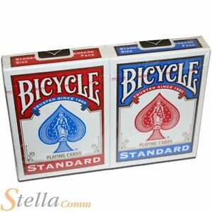 2 Packs Of Bicycle Standard Rider Back Playing Cards - 1 Red & 1 Blue Deck