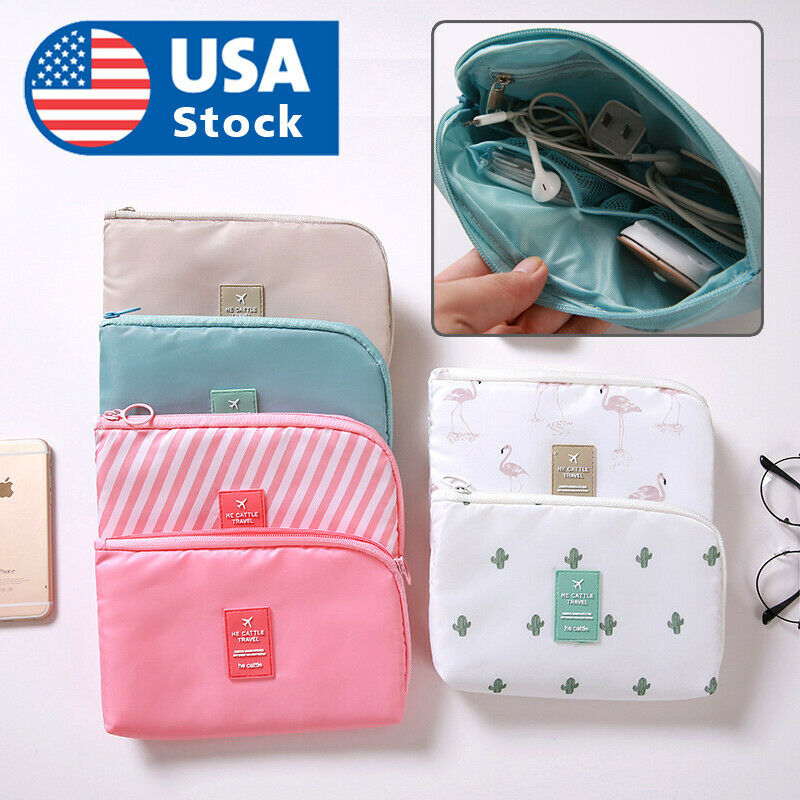 Waterproof Travel Storage Bag Electronics USB Charger Case Data Cable Organizer Home & Garden