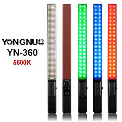 YONGNUO YN360 Handheld LED Video Light 5500k RGB Colorful 39.5CM ICE Stick UK
