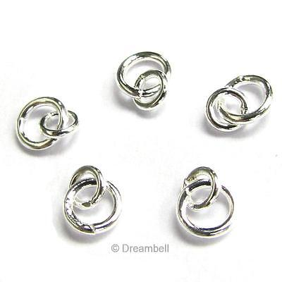 - 10x Sterling Silver Link Jump Ring 4mm 3mm Connector 925 fj003w