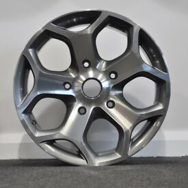 "18"" Gunmetal Polished Transit ST Style Alloy Wheels & Tyres."
