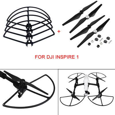 For DJI Inspire 1 Drone 1345S Carbon Fiber Propellers+Quick Release Bumper Guard