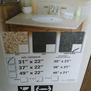 "Granite Countertop with Sink - 31"" x 22"""