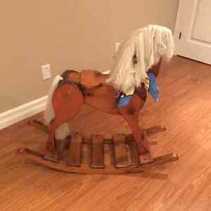 Solid wooden rocking horse. Perfect condition