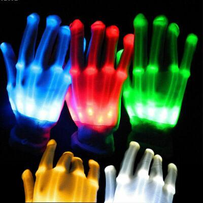 LED Handschuhe Leuchten Finger Beleuchtung Mitt Tanzen Licht - Led Halloween