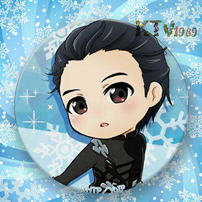 Fashion Japanese Anime YURI!!! on ICE Badge Brooch Chest Pin Souvenir Gift