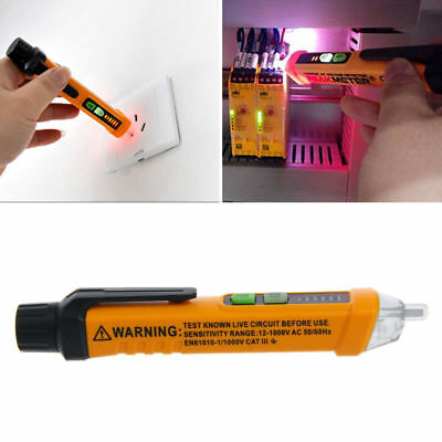 12 1000V Electrical Non Contact Ac Voltage Detector Test Pen Meter Tester Alert