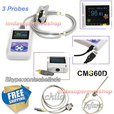 Ce Fda Finger Pulse Oximeter Blood Oxygen 3 Probesadultchildinfant Software