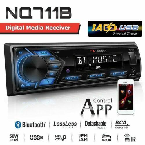 NAKAMICHI NQ711B 1-DIN Bluetooth USB AUX Radio Car Stereo Digital Media Receiver