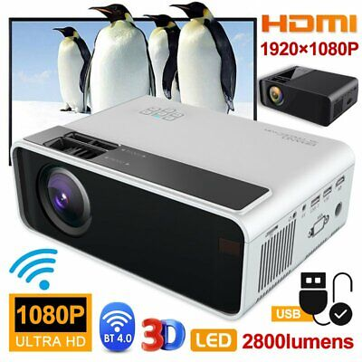 4K 1080p FHD LED Smart Home Theater Projector BT Android 4.0 Wifi 3D Video Movie