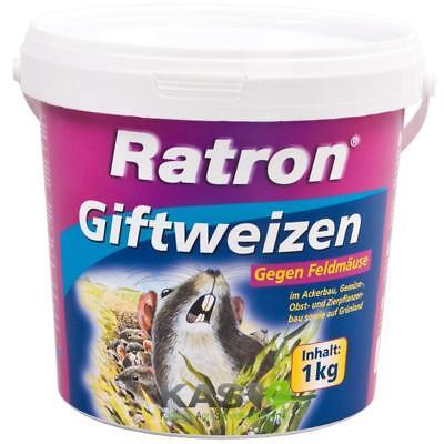 Frunol Ratron Giftweizen 1 kg gegen Feldmäuse Getreideköder Giftweizen
