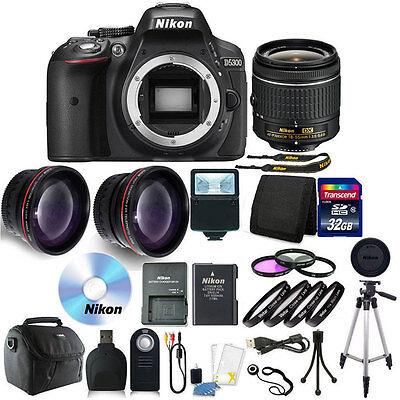 Nikon D5300 Digital SLR Camera with 18-55mm + 32GB + Top Accessory Bundle