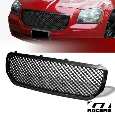 For 2005-2007 Dodge Magnum Black Luxury Mesh Front Bumper Grill Grille Guard Abs