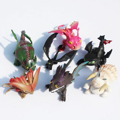 How To Train Your Dragon 7Pcs Action Figures Set  Toothless Night Fury Nadder