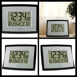 Digital Wall Clock Home Office Time with Date And temperature Display Free Ship