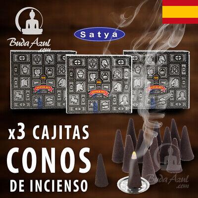 CONOS INCIENSO SUPER HIT X 3 CAJAS CONO INDIO SATYA FRAGANCIA LARGA...